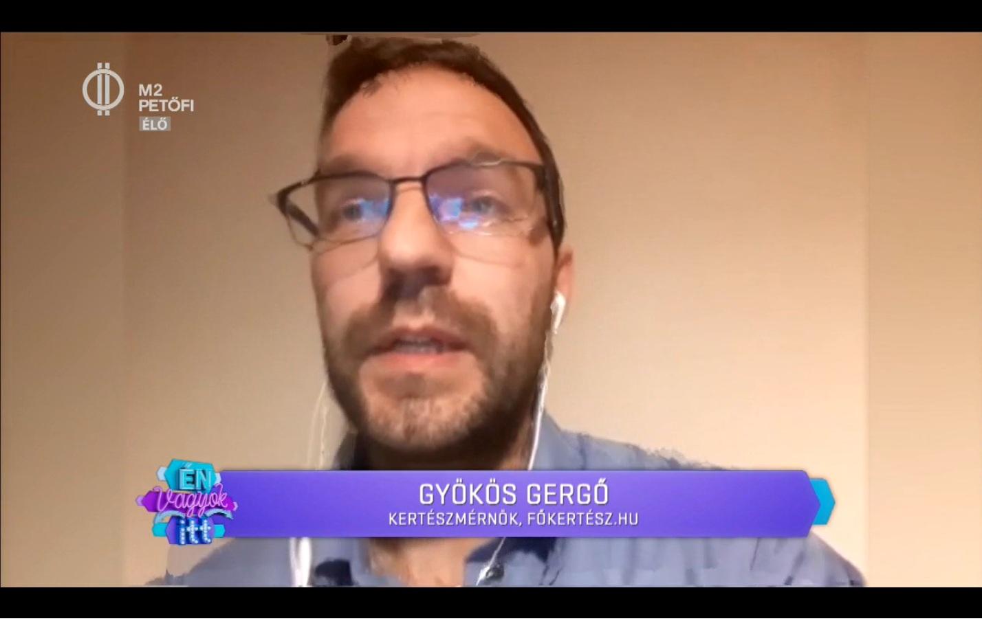 A Főkertész.hu az M2 Petőfi Tv Én vagyok itt című adásban!